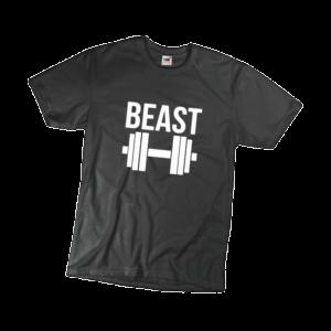 Beast férfi fehér póló minta termék kép