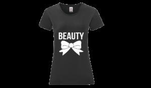 Beauty póló női fehér póló minta