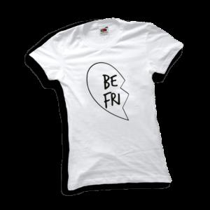 Best friends szív bal női fekete póló minta termék kép