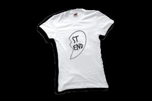 Best friends szív jobb női fekete póló minta termék kép