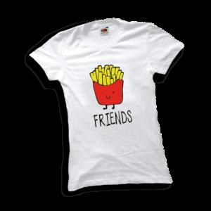 Best friends sült krumpli női fehér póló minta termék kép