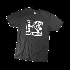 Chick magnet férfi fehér póló minta termék kép