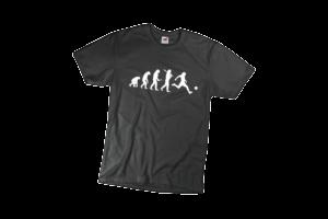 Evolúció futball férfi fehér póló minta termék kép