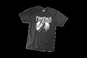 Football is my religion férfi fehér póló minta termék kép