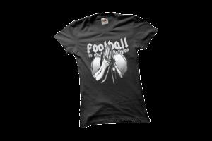 Football is my religion női fehér póló minta termék kép