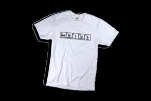 Genius férfi fekete póló minta termék kép