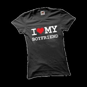 I love my boyfriend2 női fehér póló minta termék kép