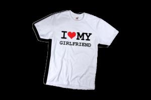 I love my girlfriend2 férfi fekete póló minta termék kép