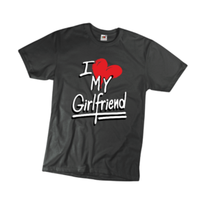 I love my girlfriend férfi fehér póló minta termék kép