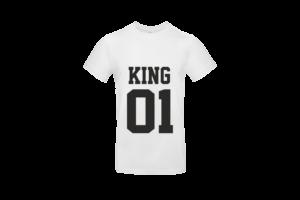 King 01 póló férfi fekete minta
