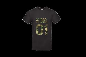 King 01 póló férfi terep fekete alapon minta