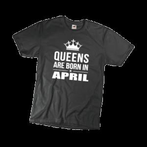 Kings are born in April szülinapi férfi fehér póló minta termék kép
