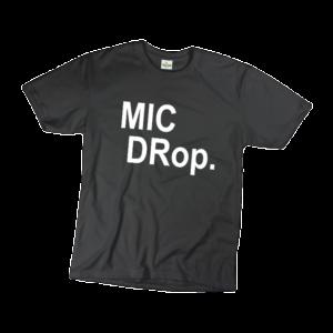 Mic drop férfi fehér póló minta termék kép