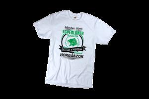 Minden ember egynlőnek születik de csak a legjobbak lesznek horgászok férfi fekete póló minta termék kép