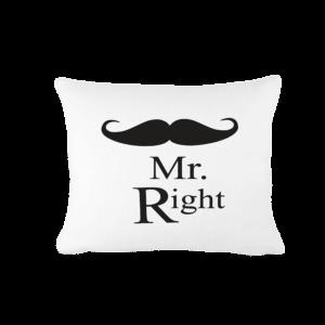 Mr. Right vicces poénos párna termék kép