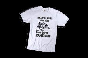 Nincs szőke herceg fehér lovon csak fasza gyerek kamionon férfi fekete póló minta termék kép