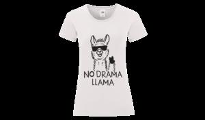 No drama llama póló női fekete minta
