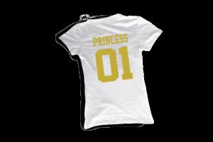 Princess 01 női fehér-arany póló minta termék kép
