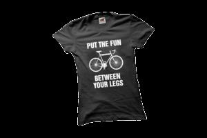 Put the fun between your legs női fehér póló minta termék kép
