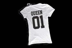 Queen 01 női fekete póló minta termék kép