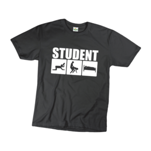 Student férfi fehér póló minta termék kép