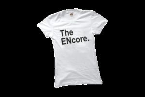 The encore női fekete póló minta termék kép