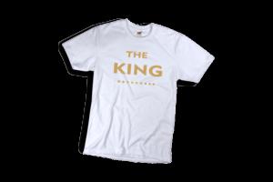 The king sárga póló fehér férfi minta