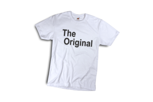 The original férfi fekete póló minta termék kép