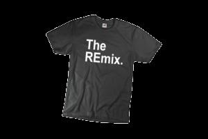 The remix férfi fehér póló minta termék kép