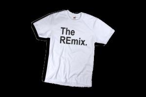 The remix férfi fekete póló minta termék kép