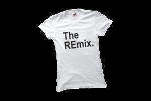 The remix női fekete póló minta termék kép
