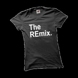 The remix női fehér póló minta termék kép