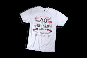 Vintage 40 éves prémium minőségű férfi fekete póló minta termék kép