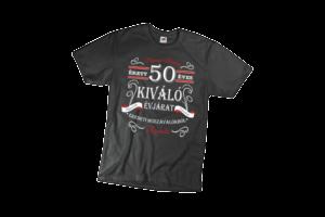 Vintage 50 éves prémium minőségű férfi fehér póló minta termék kép