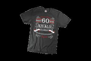 Vintage 60 éves prémium minőségű férfi fehér póló minta termék kép