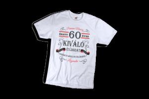 Vintage 60 éves prémium minőségű férfi fekete póló minta termék kép