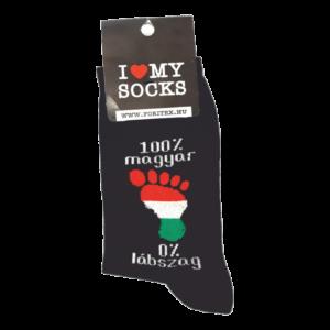 100% magyar 0% lábszag egyedi vicces Zokni termek kép