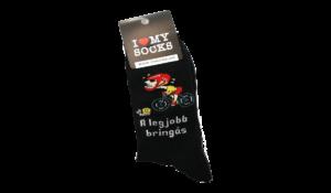 A legjobb bringás egyedi vicces Zokni termék kép
