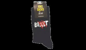 Beast egyedi vicces Zokni termék kép