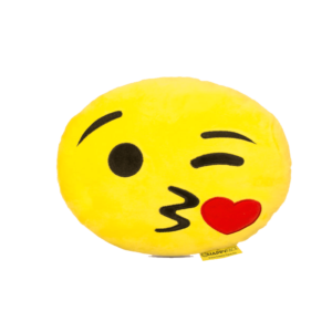 Csókos Smiley plüss emoji párna termék kép