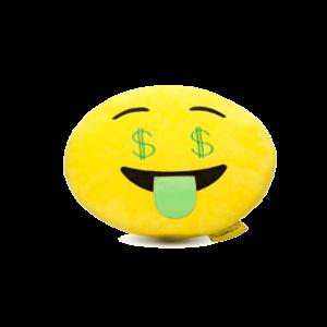 Dollár szemű Smiley plüss emoji párna termék kép