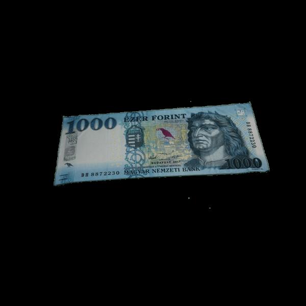 1000 Ft mintás egyedi pénzes kicsi törölköző termék kép