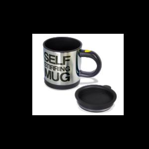 Különleges formájú fekete Önkeverő bögre termék kép