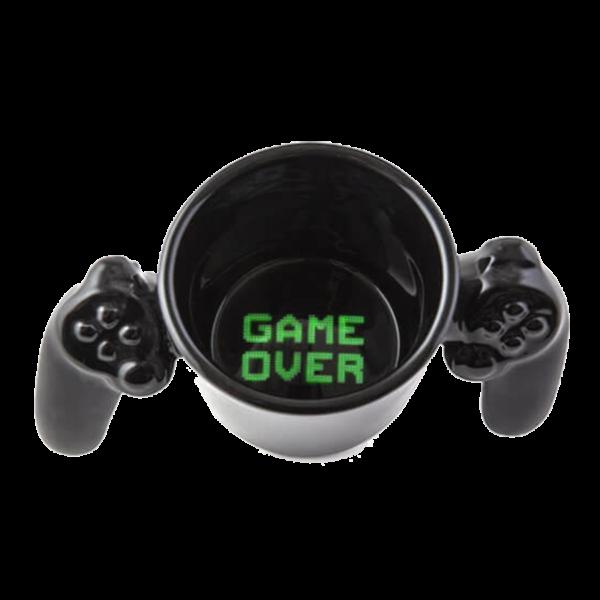 Különleges formájú Game Over - controller kerámia bögre termék kép