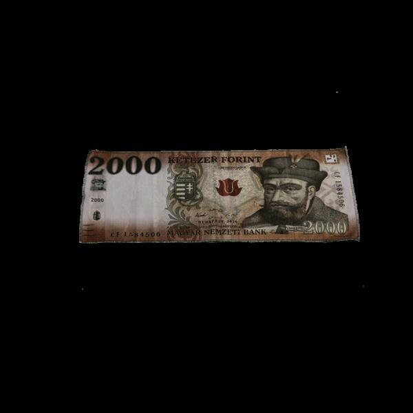 2000 Ft mintás egyedi pénzes kicsi törölköző termék kép