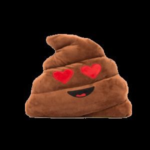 Szerelmes Kaki Smiley plüss emoji párna termék kép
