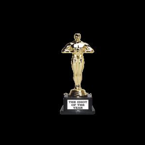 The idiot of the year Oscar szobor termék kép