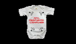 Apa megtudod csinálni!!! Baba body rugdalózó termék kép