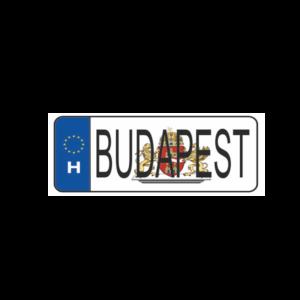 Budapest fehér hűtőmágnes termék kép