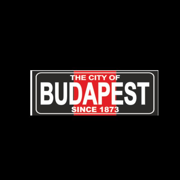 Budapest fekete hűtőmágnes termék kép